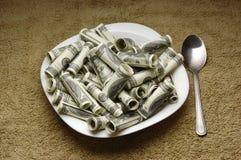 πιάτο χρημάτων Στοκ φωτογραφία με δικαίωμα ελεύθερης χρήσης