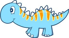逗人喜爱的恐龙向量 免版税库存图片