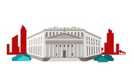 Επίπεδο σχέδιο εικονιδίων έννοιας ανώτατου δικαστηρίου Στοκ φωτογραφίες με δικαίωμα ελεύθερης χρήσης