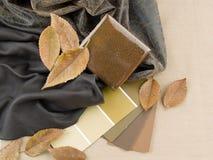 καφετί χωματένιο εσωτερικό σχέδιο σχεδίου Στοκ Φωτογραφίες