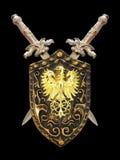 盾剑 库存照片