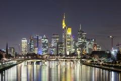 法兰克福主要地平线,德国 免版税库存图片