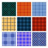 九镶边了五颜六色的纺织品无缝的样式 库存图片