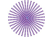 орнамент поставленный точки кругом Стоковые Фото