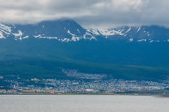 乌斯怀亚,火地群岛,阿根廷看法  库存照片