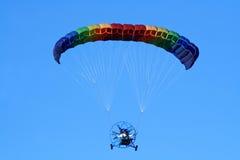 关闭的滑翔伞 免版税库存图片