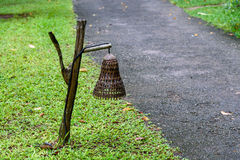 Бамбуковая лампа Стоковые Изображения