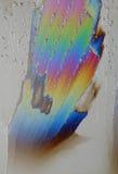 色的水晶冰彩虹 免版税库存照片
