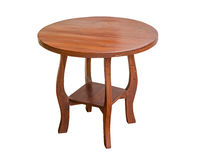Деревянный стол круглый Стоковое фото RF