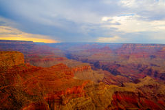 Известный гранд-каньон после тяжелого шторма Стоковые Изображения