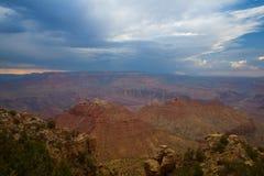 Известный гранд-каньон перед тяжелым штормом Стоковые Фото
