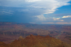Гранд-каньон перед тяжелым штормом Стоковое Фото