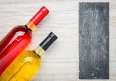 Αυξήθηκε και άσπρο κρασί με το διάστημα αντιγράφων Στοκ Εικόνες