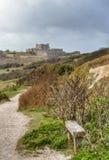 英国乡下多弗城堡 库存照片
