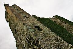 一个老塔的废墟在爱尔兰防御 库存图片