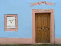 阿尔萨斯古老房子 库存图片
