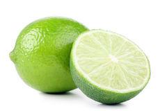 绿色柠檬 免版税库存照片