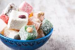 土耳其快乐糖 库存照片