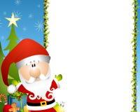 边界克劳斯・圣诞老人 免版税库存图片