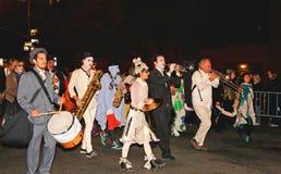 万圣节最大的游行 免版税库存照片