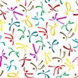 五颜六色的跳舞计算无缝的样式 免版税图库摄影