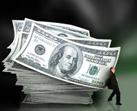 деньги управления Стоковое Фото