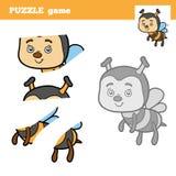 Игра для детей, пчела головоломки Стоковое Изображение RF