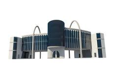 τρισδιάστατη άποψη του εμπορικού κτηρίου Στοκ Εικόνα