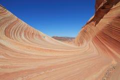 美国,亚利桑那/土狼小山:对波浪的入口 库存图片