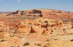 美国,亚利桑那/北部土狼的小山:异常的砂岩风景 免版税库存图片