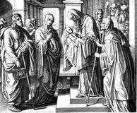 西梅昂和小耶稣 库存图片