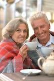 Ανώτερο τσάι κατανάλωσης ζευγών Στοκ Εικόνες