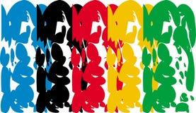 与奥林匹克颜色的背景 免版税库存照片