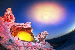 喀尔巴汗的锋利的岩石 免版税库存图片
