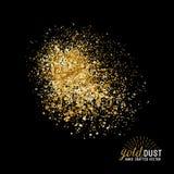 Διανυσματική χρυσή σκόνη Στοκ φωτογραφίες με δικαίωμα ελεύθερης χρήσης