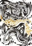 Μαύρο και χρυσό μαρμάρινο έγγραφο Στοκ φωτογραφία με δικαίωμα ελεύθερης χρήσης