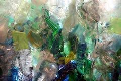 塑料海洋残骸 库存照片