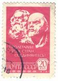 сбор винограда штемпеля России почтоваи оплата Стоковое Изображение