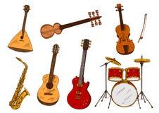 经典和种族乐器 图库摄影