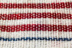 平直的红色野餐布料 免版税图库摄影