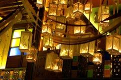 золотистые фонарики Стоковые Фото