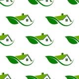 清洗无缝的样式背景的自然议院 免版税库存图片