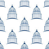 建立无缝的样式背景的国会大厦 库存照片