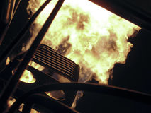 气球热燃烧器的火 免版税库存图片