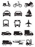 运输和车传染媒介象集合方式  免版税库存图片