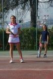 Школа тенниса внешняя Стоковые Изображения RF