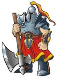 рыцарь оси Стоковая Фотография