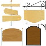 вектор знака деревянный Стоковые Изображения RF