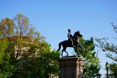 温菲尔德・斯科特汉考克将军雕象 免版税图库摄影