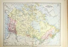 加拿大历史映射 免版税库存图片